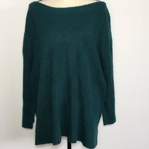 Leith Cozy Femme Pullover Sweater Hunter Green 4X